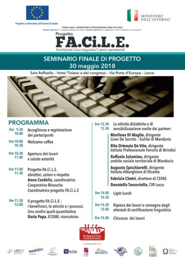 Porte Interne A Lecce.Final Conference Of The Project Does Ci L And 30 May In Lecce Cir